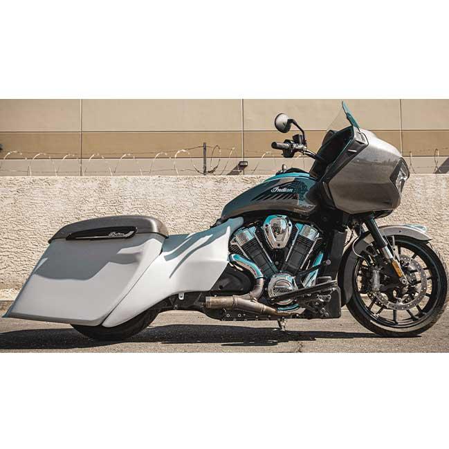 Indian Challenger Rear End Kit - Side Covers, Rear Fender, Hard Saddlebags - Evil Empire Designs
