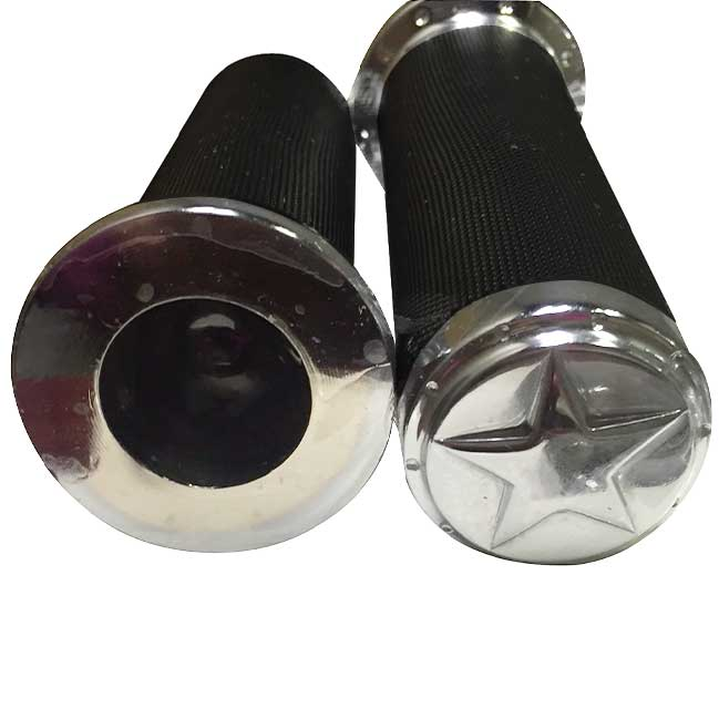 Evil Empire Designs' Chrome Grips with Star End Caps for All Indian Motorcycle Models