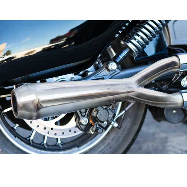 Evil Empire Designs 2:1 Slip-On Megaphone Muffler for Indian Scout Motorcycle Models